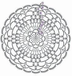 Ideas Crochet Patrones Blusas For 2019 Crochet Circles, Crochet Flower Patterns, Crochet Stitches Patterns, Crochet Round, Crochet Home, Love Crochet, Crochet Designs, Crochet Flowers, Knit Crochet