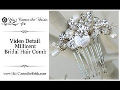 VIDEO- Small gold bridal hair comb made up of mother of pearl, freshwater pearl, rhinestones and Swarovski crystals by Hair Comes the Bride. ~ #goldhaircomb  #bridalcomb  #bridalhaircomb
