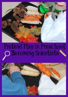 Come explore and pretend play as a SCIENTIST in preschool! With a few simple supplies, preschoolers will gain important skills through play!