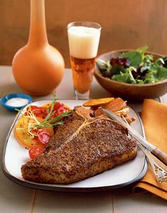 T-Bone Steak with African Spices