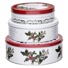 Pimpernel Holly Cardinal Nesting Cake Tins - Set of 3 | from hayneedle.com