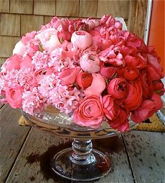 Beautiful Bowl of Flowers - You could do this in any coloured flowers