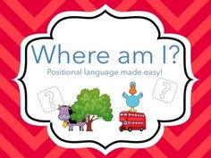 A simple game to help teach positional language! #positional #language #early #years #maths #aceearlyyears