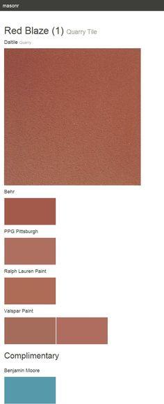 Red Blaze (1). Quarry Tile. Quarry. Daltile.