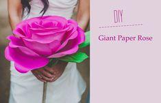 Rosa gigante de papel crepé « Manualidades