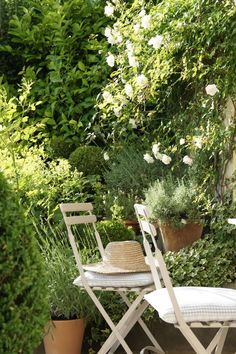 French country garden style