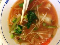 Pho Dau Bo Vegetable Noodle Bowl  LEE'S COMFORT FOOD!! Vegetable Noodles, Noodle Bowls, Pho, Restaurants, Soup, Vegetables, Ethnic Recipes, Restaurant, Vegetable Recipes