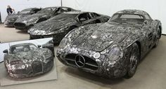 Artists Recycle Scrap Metal Into Amazing Life-Size Supercars In Poland