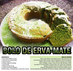 Rogerio Bastos - Noticias do Tradicionalismo Gaucho: Receita: Bolo de Erva Mate Yerba Mate, Butter Sauce, Bagel, Preserves, Cantaloupe, Benefit, Easy Meals, Food And Drink, Bread