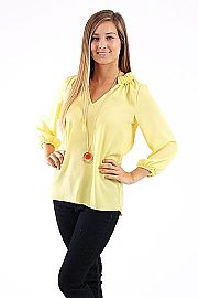 To The Top Blouse, yellow