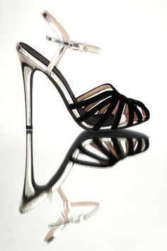 Giambattista Valli Black & Silver Sandal Fall 2013 #Shoes # Heels