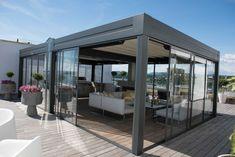 Takterrasse på Tjuvholmen Garden Room Extensions, Rooftop Deck, Flat Roof, Terrazzo, Porch, Pergola, Outdoor Structures, Nice, Building
