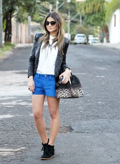 sequinned jacket and booties