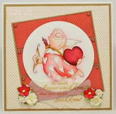 Val Set (Sku#4214) Art Impressions ... Valentine's Day love card with cupid