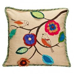 Bird and Blossom Pillow - Pillows, Blankets & Bedcovers - Home Accents - Products
