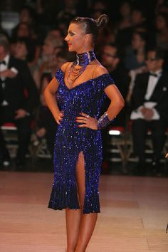 salsa bachata or latin dance dress - worn by Ksenia Kasper