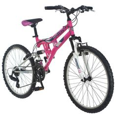 """Mongoose® Girls' Exlipse 24"""" Mountain Bicycle, 21 speed, $100, Academy Sports"""