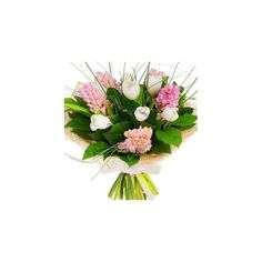Order a playful white and pink spring bunch, made of tulips and hyacinths, free delivery in Cluj-Napoca and Huedin Spring Bouquet, Tulips, Floral Wreath, Wreaths, Pink, Decor, Floral Crown, Decoration, Door Wreaths