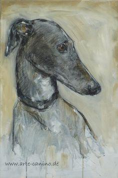 Greyhound/Galgo Mixed media on canvas, 60 x 40 cm