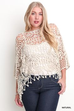 LACE CROCHET KNITTED TOP
