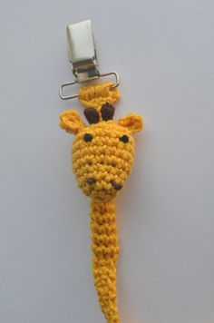 Pacifier Holder Crochet Handmade Giraffe Baby Pacifier by LEOyarn, $10.00 #handmadebot #teamdream