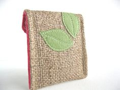 Eco Friendly Mini Pocket Purse Upcycled by barefootSurfboutique, $12.00