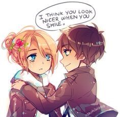 Emblem though I don't ship these to its so cute