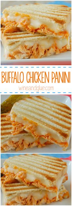 Buffalo Chicken Panini | A delicious and simple sandwich you won't be able to get enough of!