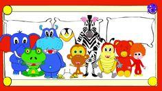 Ten in the bed nursery rhyme, songs for kids, toddlers