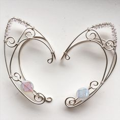 Pair of silver moon godess elf ear cuffs by ElysianPearl on Etsy