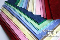 15 Sheets  - Wool Blend Felt - 12 x 18 inch sheets NEW colors just added -- my favortie felt ever! 15 Sheets Wool Blend Felt 12 x 18 inch sheets by hydrangeahippo - http://etsy.me/13u8sJP