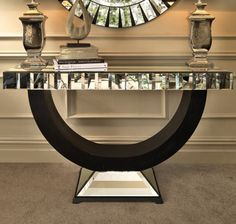 QUARTZ MIRRORED CONSOLE TABLE