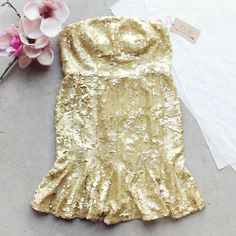 Golden Mermaid Party Dress: Alternate View #1