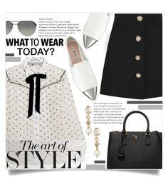 """What to wear today? MIU MIU and PRADA!"" by keziatmrskasrf ❤ liked on Polyvore featuring Miu Miu and Prada"
