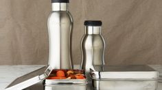 Stainless Lunch Sets eliminate the plastic bags and throw aways...and look fabulous too.