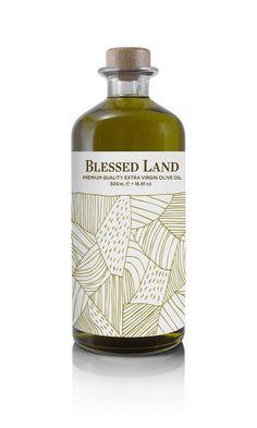 """Σειρά προϊόντων """"Blessed Land"""" που δημιουργήθηκε από τo G Design Studio. Olive Oil Packaging, Whiskey Bottle, Blessed, Perfume Bottles, Graphic Design, Drinks, Beauty, Studio, Products"""