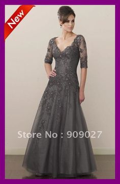 2012 Sexy V Neck Halter Sleeves Tulle Applique Floor Length Mother Of The Bride Groom Dresses Gowns Outfits-in Mother of the Bride Dresses from Apparel & Accessories on Aliexpress.com