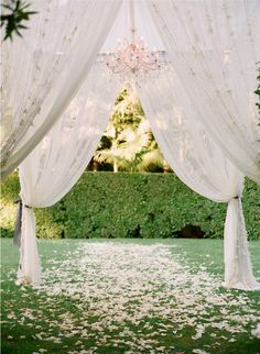 canopy with chandelier