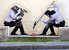 Levalet, street-art, Paris