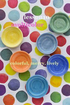 multi color composition