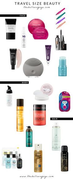 Travel Size Beauty Products You Didn't Know Existed | The Belle Voyage. Beauty essentials for travel - all exactly the right size!