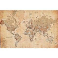 Vintage World Map Maps Giant Poster Print  55x39 College Giant Poster Print  55x39: http://www.amazon.com/Vintage-World-Giant-Poster-College/dp/B002HPNDCS/?tag=livestcom-20