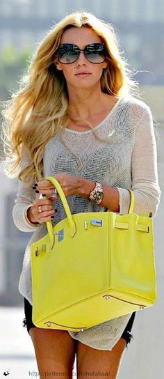 Street style - Hermes bag <3 na
