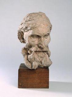 Auguste Rodin (1840 -1917) Eustache de Saint-Pierre, tête type A  1885-1886  Terre cuite