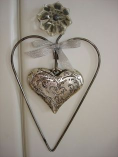 Silver heart within a heart ornament would look so great yr round in my house.on my wish list I Love Heart, Fire Heart, Key To My Heart, Happy Heart, Valentines Day Hearts, Valentine Heart, Christmas Hearts, Heart In Nature, Heart Art