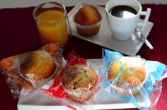 Magdalena Tradicional Mediterránea, Con Pepitas de Chocolate y 0% Azúcar...ideales para desayunar como es debido!!