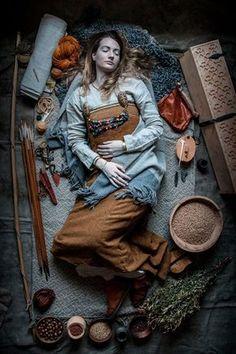 Reenactment of viking burial
