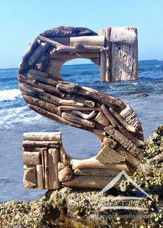 driftwood letter S - front yard.  Yep.