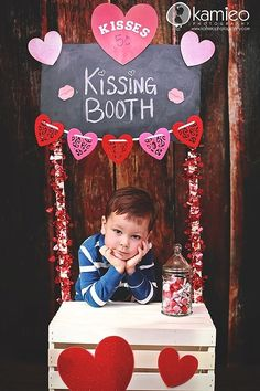 kissing booth for valentine party & a great photo prop for kids at the party ;) by yesenia