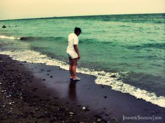 My sister contemplating on whether to go in the water or not, lol. Zamboanga City, Resort Villa, My Sister, Seas, Falling In Love, Philippines, Sisters, To Go, Lol